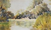 Sale 8881 - Lot 577 - Blamire Young (1862 - 1935) - The Yarra 18 x 30 cm