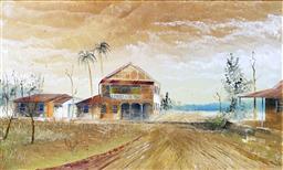 Sale 9143A - Lot 5004 - MAYNARD WATERS (1936 - ) - Glenella, Pacific Highway QLD 26 x 42 cm (frame: 44 x 60 x 5 cm)