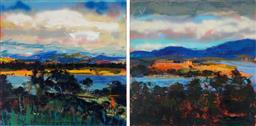 Sale 8960J - Lot 82 - Laura Matthews (1964 - ) - far far away...Disney dreamt it, 2011 120 x 120cm, each (total: 120 x 240 x 4 cm)