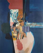 Sale 9067 - Lot 506 - Louis James (1920 - 1996) - Bathers, 1969 76 x 63 cm (frame: 83 x 70 x 2 cm)