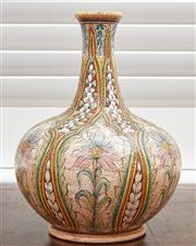 Sale 9081H - Lot 19 - A ceramic vase from Orivieto Italy, signed G.Giotto to base,  Height 31cm