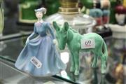 Sale 8322 - Lot 69 - Coalport Figure Anne with a Sylvac Donkey