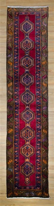Sale 8559C - Lot 26 - Vintage Persian Lilian Runner 385cm x 85cm