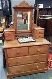 Sale 8611 - Lot 1053 - Pine Mirrored back Dresser