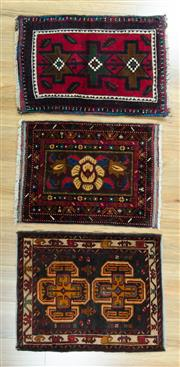 Sale 8617C - Lot 43 - 3 pieces persian doormat 70x50