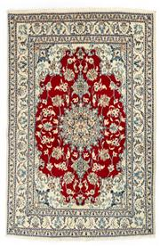 Sale 8715C - Lot 131 - A Persian Nain, 100% Wool Pile And Silk Inlaid With Medallion , 214 x 137cm