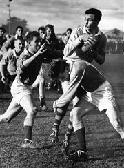 Sale 8754A - Lot 92 - Australian 'Wallabies' vs New Zealand 'All Blacks', 1962 - 22 x 17cm