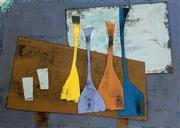 Sale 8787A - Lot 5039 - Stanislaus Rapotec (1913 - 1997) - Untitled (Glasses), 1956 24 x 34cm