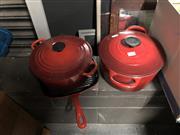 Sale 8819 - Lot 2263 - Le Cruestet Casserole Pots And Pan