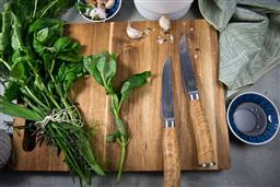 Sale 9240L - Lot 29 - Set of 2 Steak Knives - Olive Wood Handles - USK Signature Tender