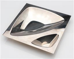 Sale 9255H - Lot 25 - A Christofle silver-plated Ora Ito silver-plated vide poche, 25cm x 25cm, RRP $965.