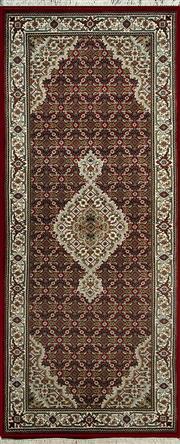 Sale 8353C - Lot 97 - Indo Tabriz 200cm x 80cm