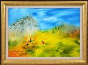 Sale 8363 - Lot 551 - David Boyd (1924 - 2011) - Children Playing 41 x 60.5cm