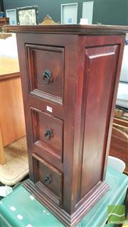 Sale 8390 - Lot 1536 - Mahogany 3 Drawer Chest