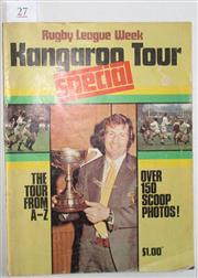 Sale 8418S - Lot 27 - RUGBY LEAGUE WEEK SPECIAL SOUVENIR ISSUE OF THE 1973 KANGAROO TOUR OF ENGLAND.