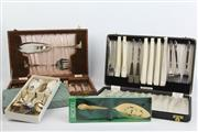 Sale 8470 - Lot 27 - Cased Sets of Fish Knife & Fork Sets with Servers (2)