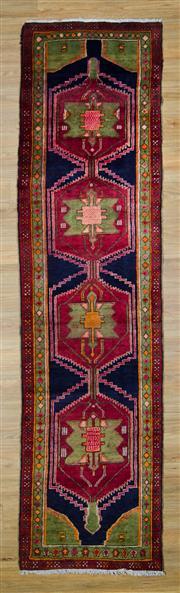 Sale 8559C - Lot 27 - Vintage Persian Lilian Runner 320cm x 80cm