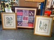 Sale 8663 - Lot 2107 - Group of (3) Framed Decorative Prints (various sizes)