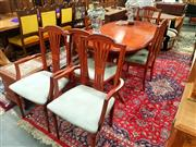 Sale 8676 - Lot 1323 - Oval Extension Dining Table with 6 Chairs