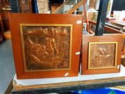 Sale 8686 - Lot 2092 - 3 Copper Plaques