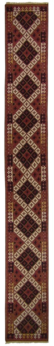 Sale 8725C - Lot 69 - An Indian Flatweave Runner, Hand-knotted Wool, 640x80cm, RRP $1,500