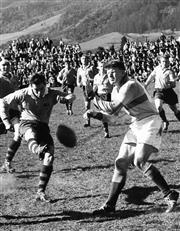 Sale 8754A - Lot 93 - Australian 'Wallabies' vs New Zealand 'All Blacks', 1962 - 21 x 16cm