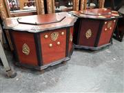 Sale 8834 - Lot 1010 - Pair of Oriental Lift Top Trunks