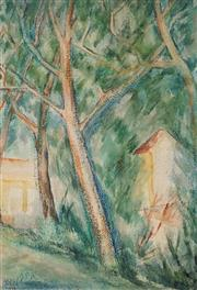Sale 8908A - Lot 5001 - Desiderius Orban (1884 - 1986) - Untitled (Amongst the Trees), 1952 54 x 37 cm