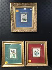 Sale 8958 - Lot 2091 - Set of (3) Hand-Coloured Antique Botanical Plates, frame sizes: 52 x 47cm (1); 46 x 41cm (2)