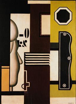 Sale 9154JM - Lot 5066 - FERDINAND LEGER (1881 - 1955) Untitled (Abstract), 1926 decorative print after original 34.5 x 25.5 cm (frame: 58 x 47 x 3 cm) galle...