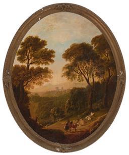 Sale 9212A - Lot 5057 - C19TH ENGLISH SCHOOL - Countryside 74.5 x 59 cm (frame: 89 x 64 x 4 cm)