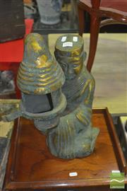 Sale 8331 - Lot 1045 - Bronze Candle Holder