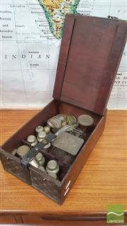 Sale 8383 - Lot 1059 - Vintage Cased Traveling Scales