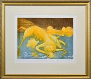 Sale 8408 - Lot 586 - Arthur Boyd (1920 - 1999) - Narcissus & Unicorn 44 x 60cm
