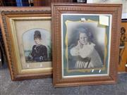 Sale 8417T - Lot 2097 - 2 Coloured Framed Photographs of a Woman & Child
