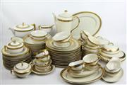 Sale 8470 - Lot 66 - Czechoslovakia Gilded Dinner Service inc Plates, Lidded Dishes and Cups