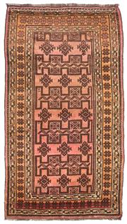 Sale 8725C - Lot 70 - A Vintage Afghan Beluchi Carpet, Hand-knotted Wool, 210x140cm, RRP $3,000