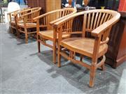 Sale 8889 - Lot 1039 - Set of 4 Teak Tub Chairs