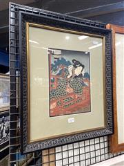 Sale 8895 - Lot 2039 - Japanese School - framed woodblock print