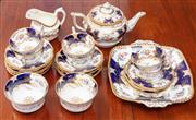 Sale 9058H - Lot 49 - An early C20th Coalport tea service for six in the bat wingpattern comprising tea pot milk jug, sugar bowls, cake plate, six cups a...