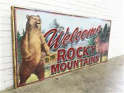 Sale 9117 - Lot 1009A - Vintage Rocky mountains sign (240 x 110cm)