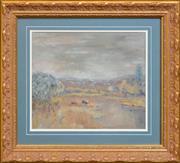 Sale 8286 - Lot 577 - Winifred Caddy (1884 - ) - Tasmanian Landscape 27 x 32cm