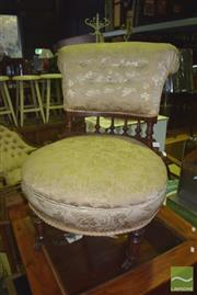 Sale 8352 - Lot 1053 - Victorian Slipper Chair