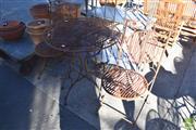 Sale 8390 - Lot 1344 - Metal 3 Piece Outdoor Suite