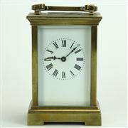 Sale 8413 - Lot 78 - French Brass Carriage Clock