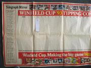 Sale 8418S - Lot 29 - WINFIELD CUP 1993 Daily Telegraph Souvenir for 1993. Oversized Wall chart, not filled in.