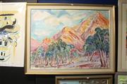 Sale 8468 - Lot 2044 - Nada Hunter - Central Australian Landscape 86 x 100cm