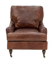 Sale 8651A - Lot 12 - A pair of oversized aged leatherarmchairs upholstered in top grain leather, H 89 x W 83 x D 97cm