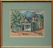 Sale 8692 - Lot 592 - Desiderius Orban (1884 - 1986) - Untitled (Mountain Village) 24.5 x 31.5cm