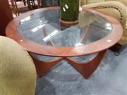 Sale 8741 - Lot 1056 - Circular G Plan Atmos Coffee Table with Glass Top